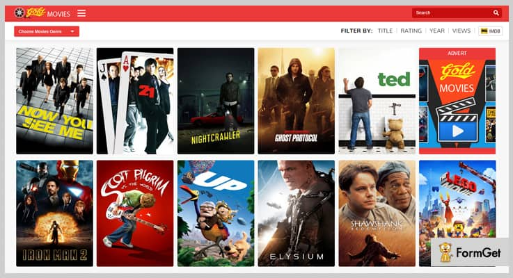 Gold MOVIES Movie PHP Script