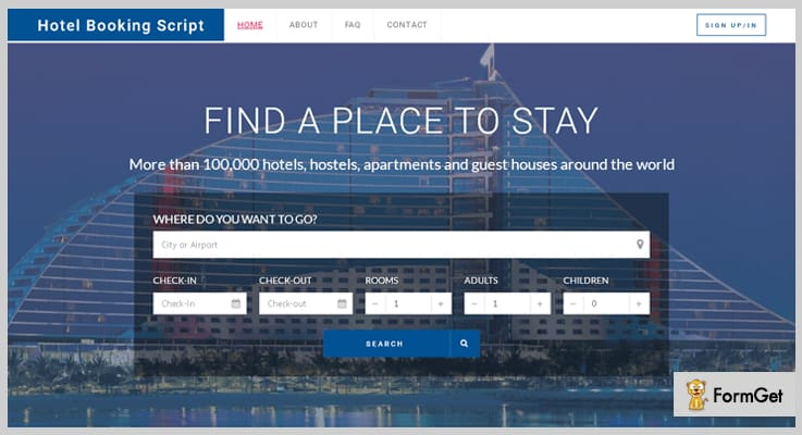 Hotel Booking PHP Script