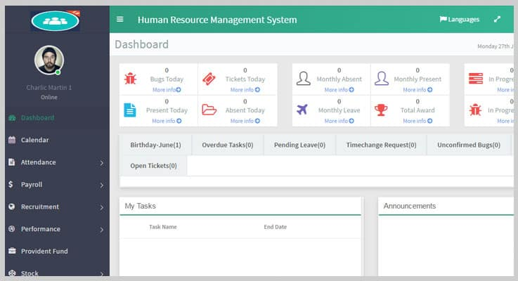 HRM Human Resource Management System