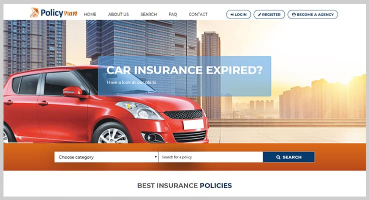 Insurance Policy Listing Website Insurance PHP Script