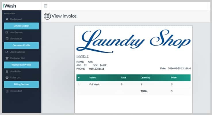 iWash Laundry Service PHP Script