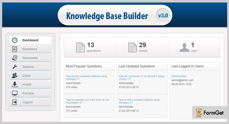 Knowledge Base Builder Knowledge Base PHP Script