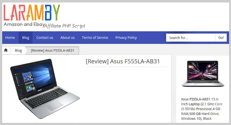 LaramBy eBay PHP Script