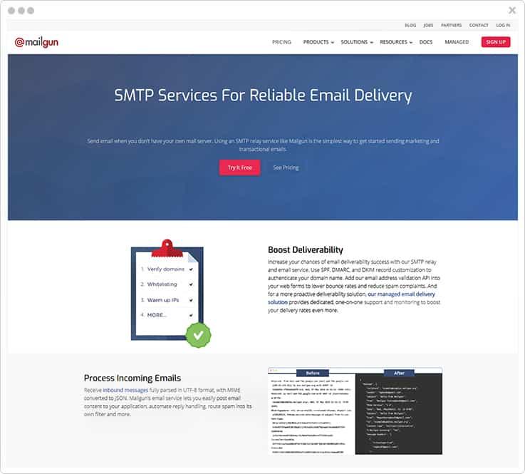 Mailgun SMTP