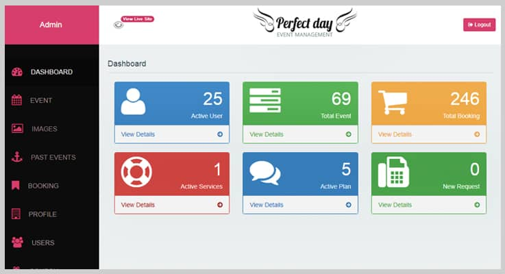Perfect Day Event Management PHP Script