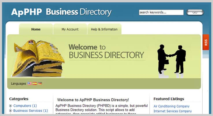 PHP Business Listings Directory PHP Script
