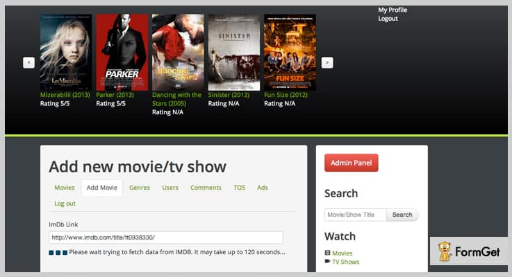 PHP Watch Movies Movie PHP Script
