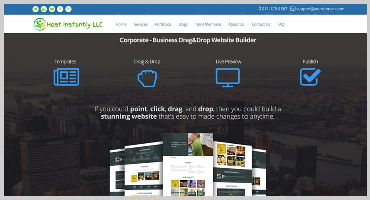 Quick Sitebuilder Drag And Drop Website Builder PHP Script