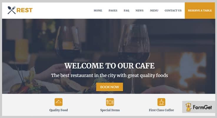 Rest Cafe Restaurant PHP Script
