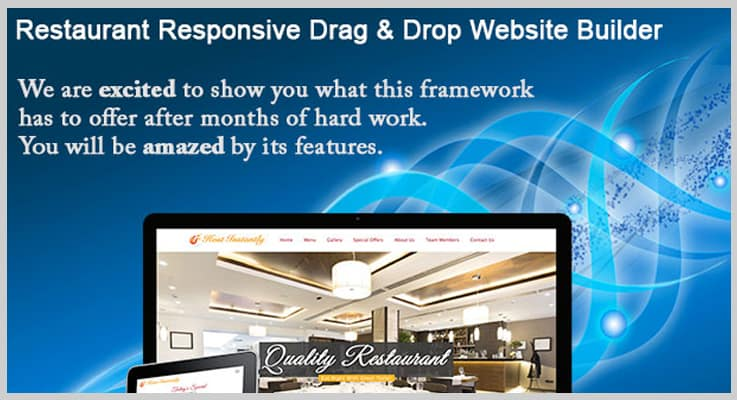 Restaurant Drag And Drop Website Builder PHP Script