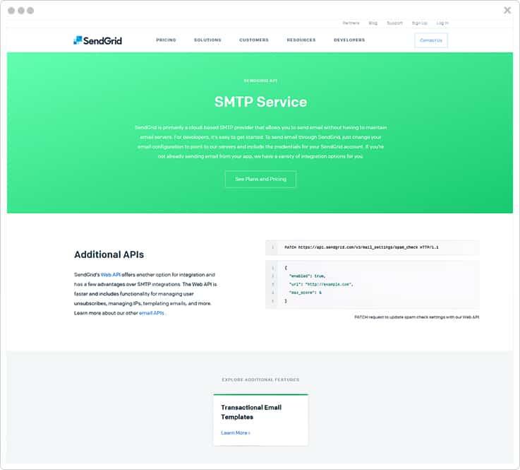 Sendgrid AuthSMTP Alternative