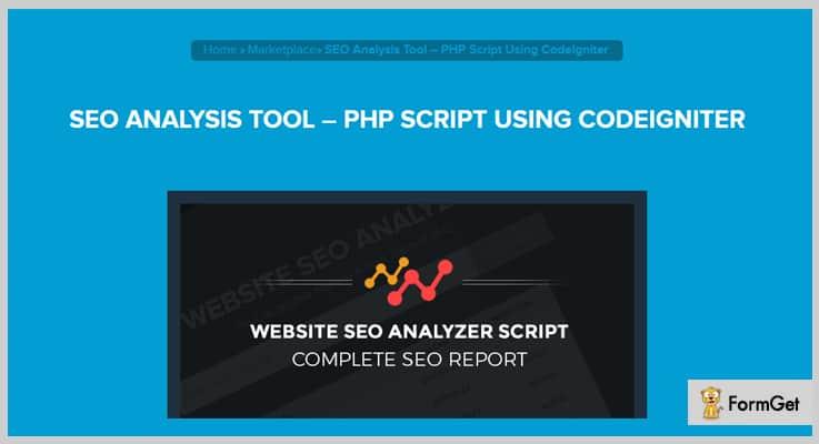 SEO Analysis Tool SEO PHP Script