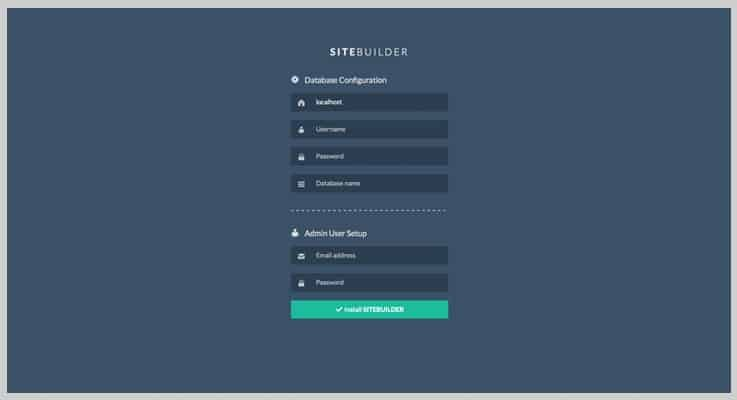 Sitebuilder Drag And Drop Website Builder PHP Script