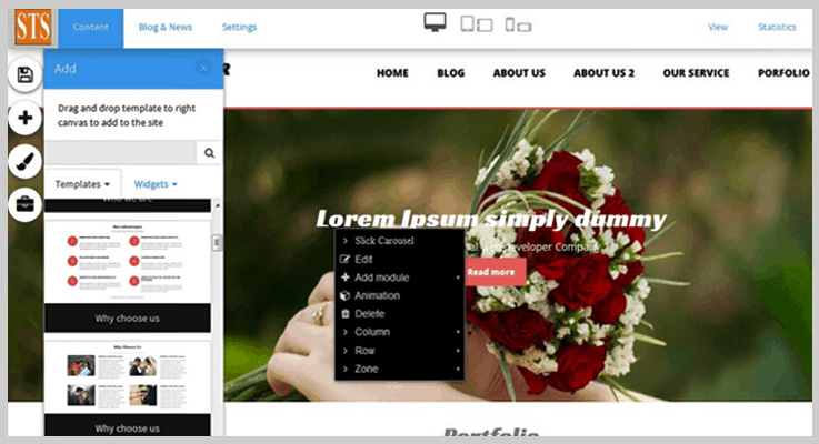 STS Drag And Drop Website Builder PHP Script