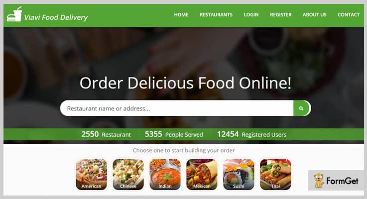 Viavi Restaurant PHP Script