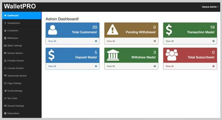 Wallet Pro Payment Gateway PHP Script