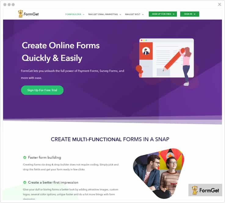 FormGet Google Forms Alternatives