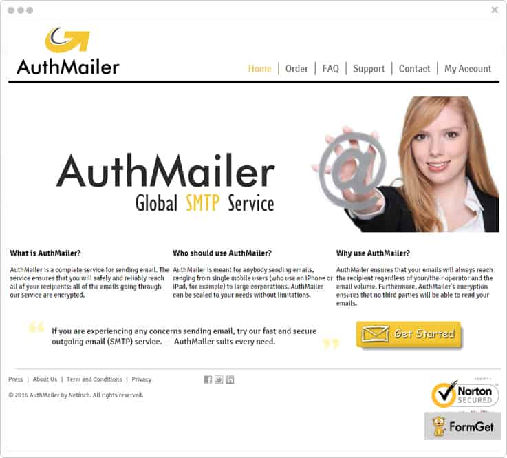 AuthMailer Mailgun Alternatives SMTP FormGet