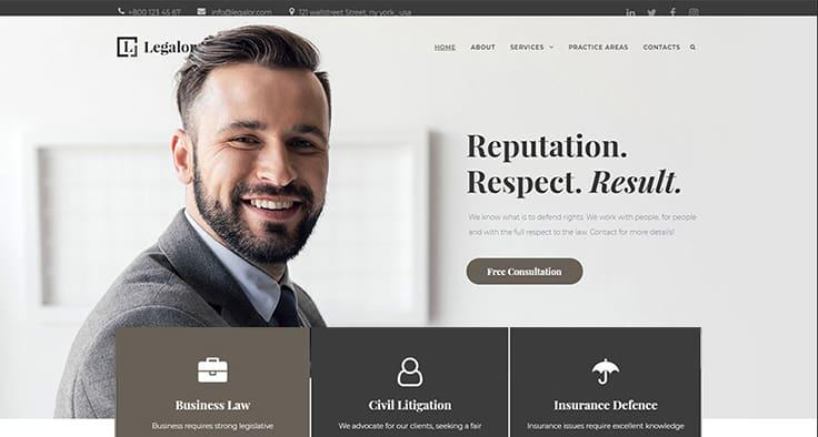 Legalor - Lawyer Elementor WordPress Theme