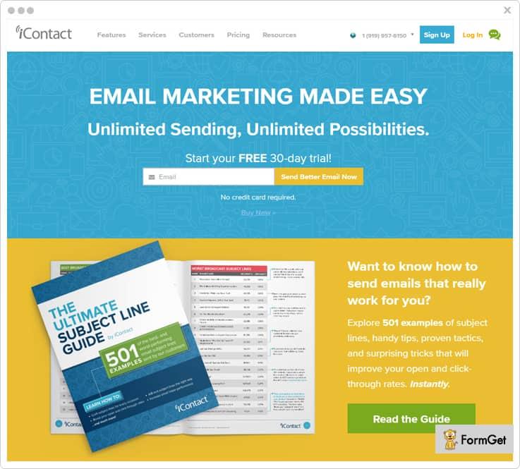 iContact FreshMail Alternatives