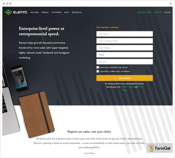 Klaviyo Email Marketing Software