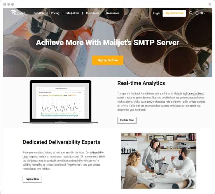 Mailjet SMTP Service
