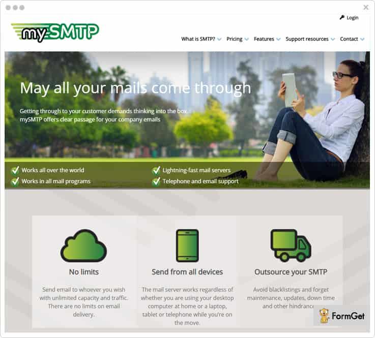 mySMTP smtp relay service provider
