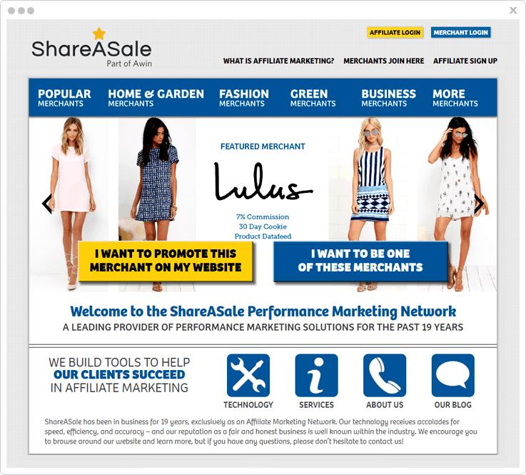 Affiliate Market ShareASale