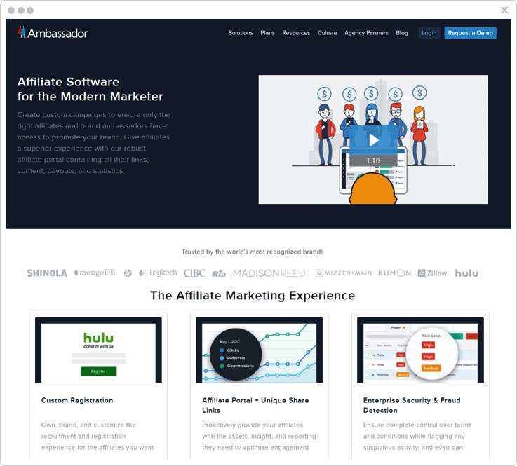 Software For Affiliate Marketing Ambassador