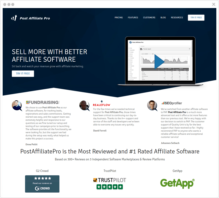 Affiliate Tracking Software Post Affiliate Pro
