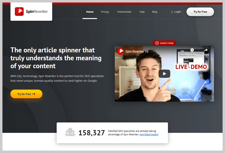 Spin Rewriter - Best Article Spinner Tools