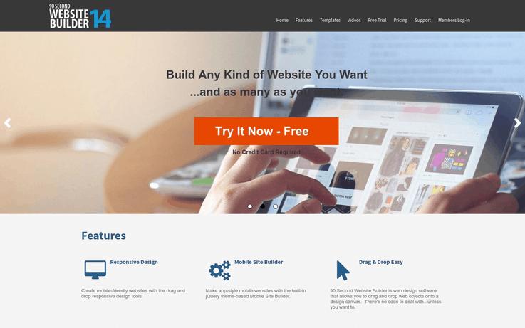 90 Second Website Builder - Website Creator
