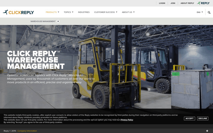 ClickReply - Best Warehouse Management Software