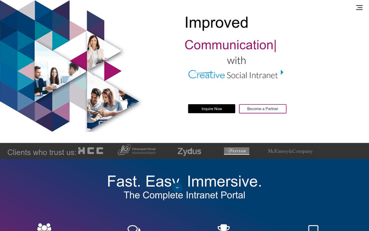 Creative Social Intranet - Intranet Software