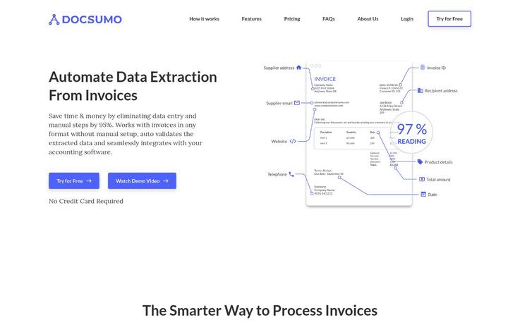Docsumo - Best Data Entry Software