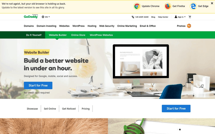GoDaddy - Website Creator