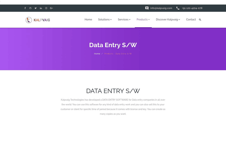 Kalpvaig - Best Data Entry Software