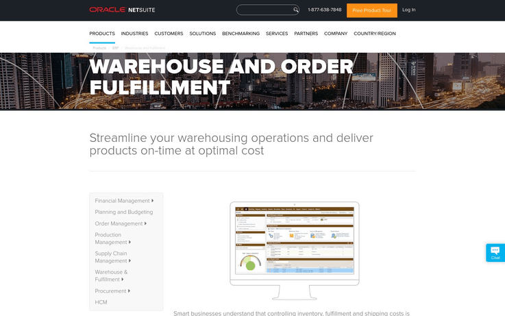 NetSuite - Best Warehouse Management Software