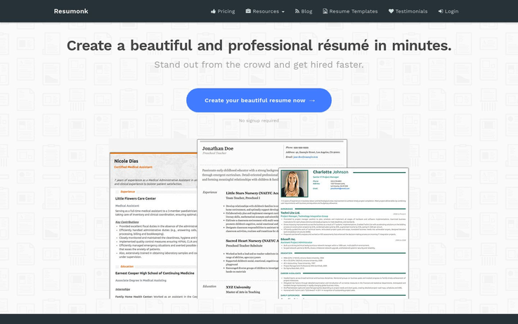 Resumonk - Best Resume Software