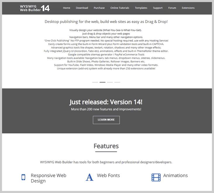 WYSIWYG - Website Creator