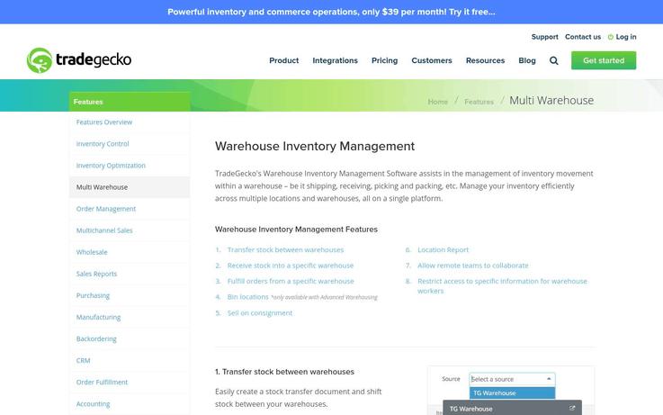 Tradegecko - Best Warehouse Management Software