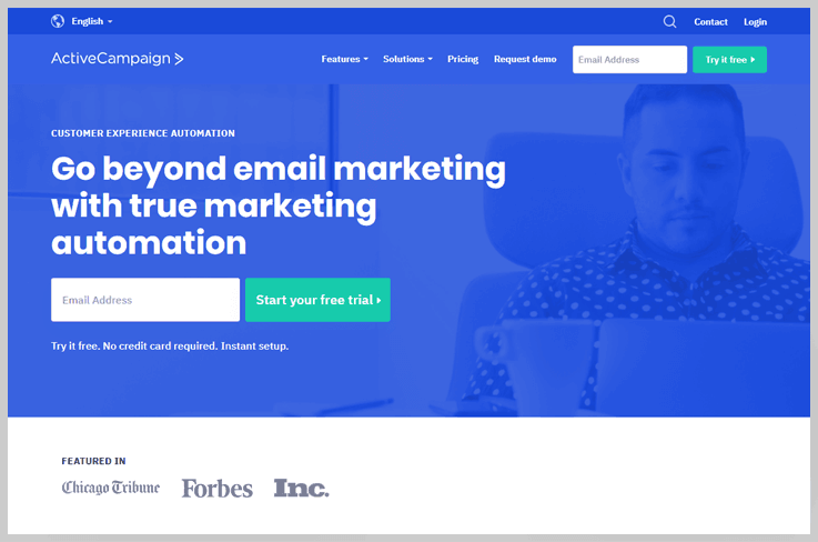 Email Marketing Active Campaign  Box Inside