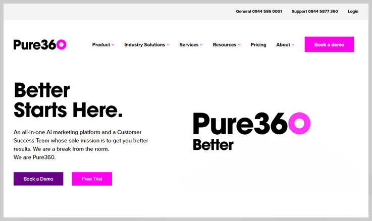 Pure360 - Admail Net Alternatives