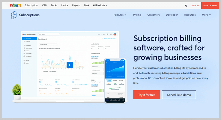 Zoho Subscriptions - Ziqy Alternatives