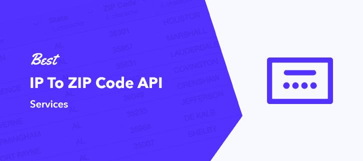 Best To ZIP Code API Services