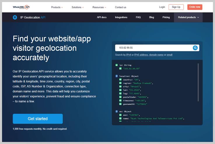 IP Geoloaction API – WhoisXMLAPI