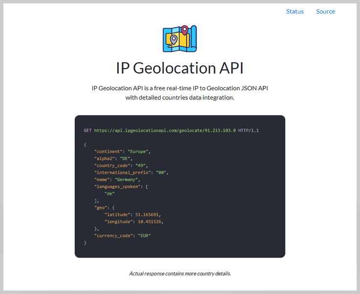 IP Geolocation API