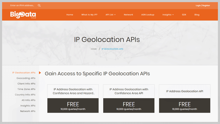 IP Geolocation By BigDataCloud