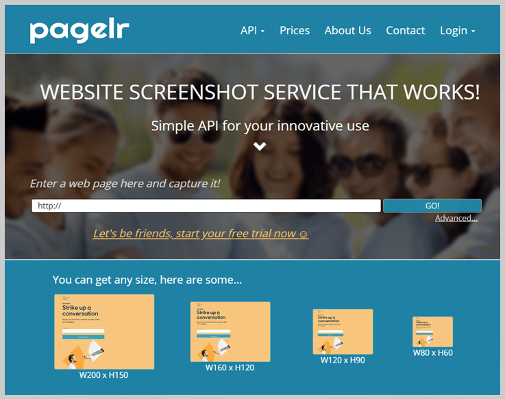 PageLr - Url To Screenshot Api
