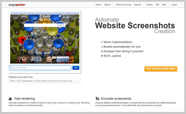PagePeeker API